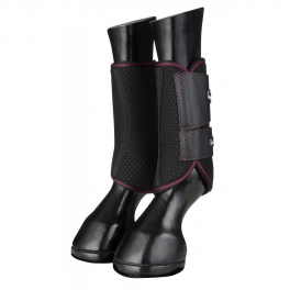 Carbon Mesh Wrap Boots - Black/Mulberry